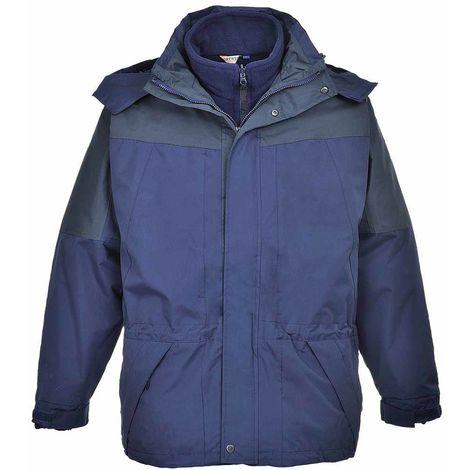 sUw - Aviemore 3 in 1 Mens Detachable Fleece Waterproof Jacket With Hood