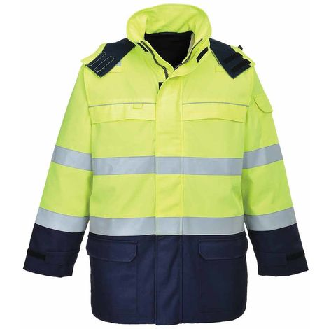 sUw - Bizflame Flame Resistant Multi Arc Safety Workwear Waterproof Jacket