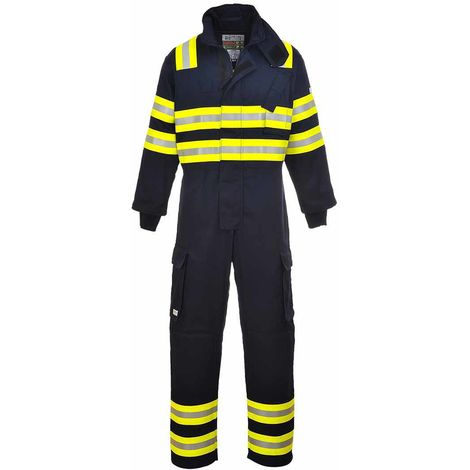 sUw - Bizflame Flame Resistantland Fire Safety Workwear Coverall Boilersuit