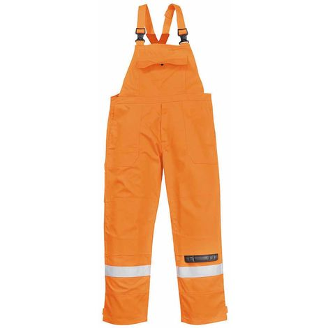 sUw - Bizflame Plus Flame Resistant Safety Workwear Bib and Brace Dungarees