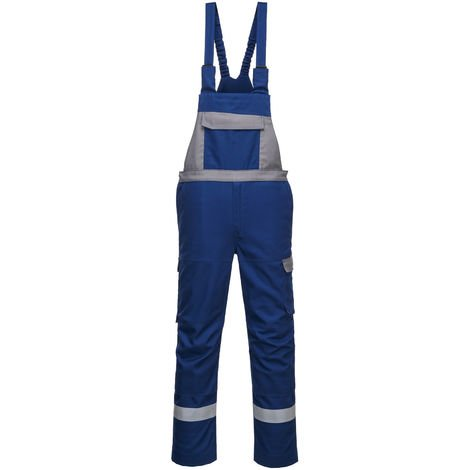 sUw - Bizflame Ultra Two Tone Flame Resistant Workwear Bib and Brace Dungarees