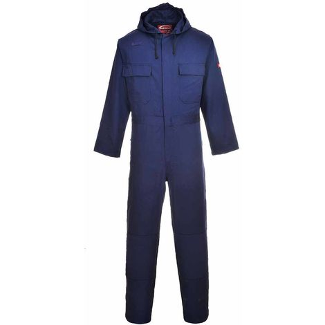 sUw - Bizweld Flame Resistant Safety Workwear Hooded Coverall Boilersuit