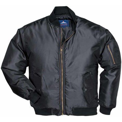 sUw - Classic Style Lined Padded Waterproof Nylon Pilot Jacket