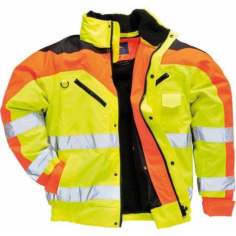 sUw - Contrast Plus Bomber Safety Workwear Jacket