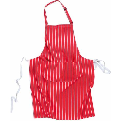sUw - Durable Cotton Catering Uniform Butchers Striped Apron with Pocket