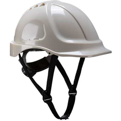 sUw - Endurance Glowtex Glow-In-The-Dark Safety Helmet, White, Adjustable,