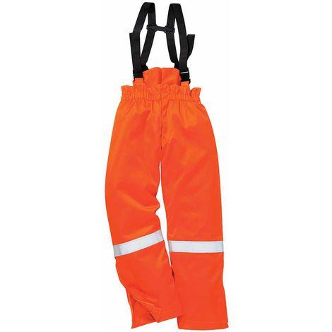 sUw - Fire Resistant Hi-Vis Safety Workwear Anti-Static Winter Salopette Trouser
