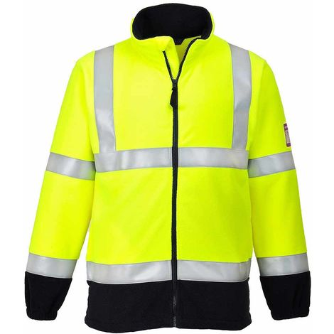sUw - Flame Resistant Safety Workwear Anti-Static Hi-Vis Fleece Jacket