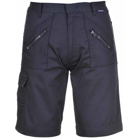 sUw - Functional Workwear Twin Stiched Elasticated Action Cargo Shorts