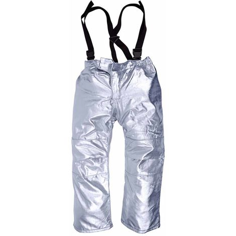 sUw - Heat Protection Lined Approach Foundry Trouser AM15, Silver, M,