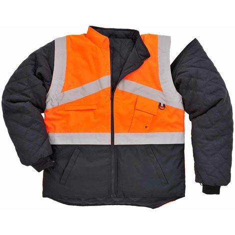 sUw - Hi-Vis Outdoor 2-Tone Reversible Jacket With Detachable Sleeves