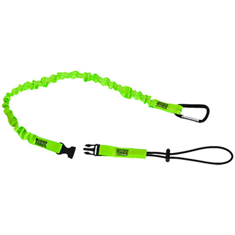 sUw - Hi-Vis Quick Connect Tool Lanyard, Green, One Size,