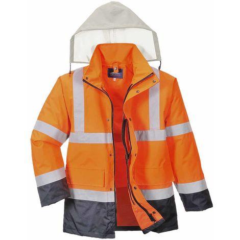 sUw - Hi-Vis Safety 4-in-1 Contrast Traffic Workwear Jacket