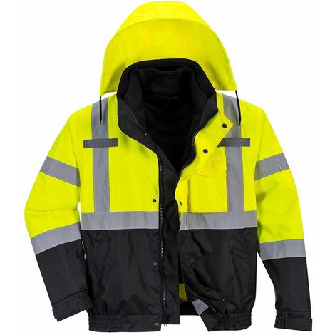 sUw - Hi-Vis Safety Premium 3-in-1 Workwear Bomber Jacket