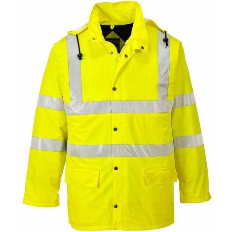 sUw - Hi-Vis Safety Sealtex Ultra Lined Workwear Waterproof Hooded Jacket
