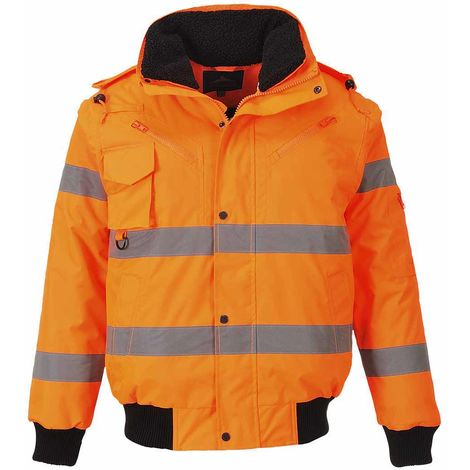 sUw - Hi-Vis Safety Workwear 3-in-1 Bomber Jacket