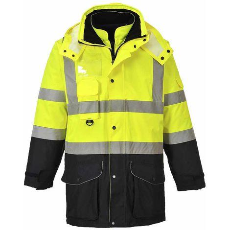 sUw - Hi-Vis Safety Workwear 7-in-1 Contrast Traffic Jacket