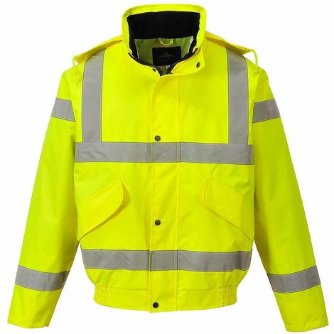sUw - Hi-Vis Safety Workwear Breathable Rail Track Side Bomber Jacket