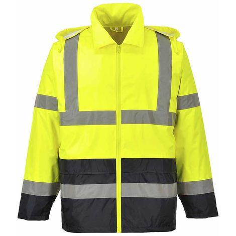sUw - Hi-Vis Safety Workwear Classic Contrast Hooded Waterproof Rain Jacket