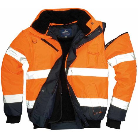 sUw - HI-Vis Safety Workwear Contrast Bomber Jacket