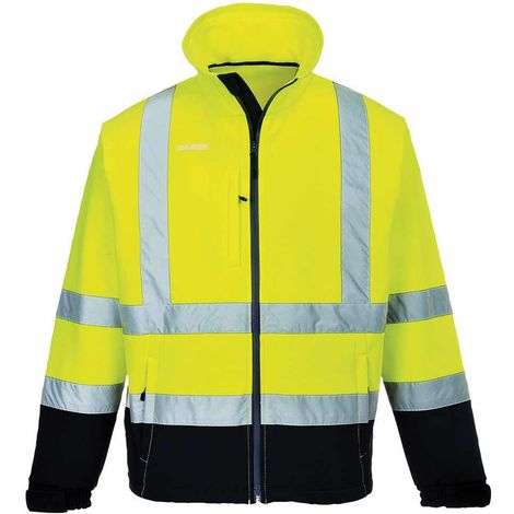 sUw - Hi-Vis Safety Workwear Contrast Softshell (3L)