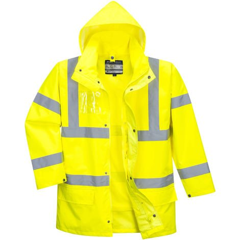 sUw - Hi-Vis Safety Workwear Essential 5-in-1 Jacket - Yellow - XXX-Large
