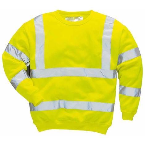 sUw - Hi-Vis Safety Workwear Long Sleeved Sweatshirt