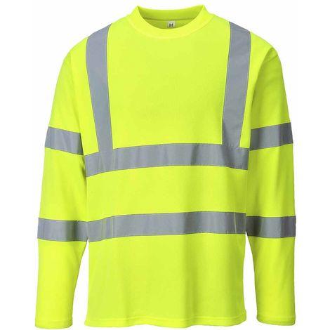 sUw - Hi-Vis Safety Workwear Long Sleeved T-shirt