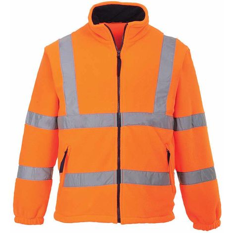 sUw - Hi-Vis Safety Workwear Mesh Lined Fleece Jacket