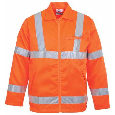 sUw - Hi-Vis Safety Workwear Poly-cotton Rail Track Side Jacket RIS