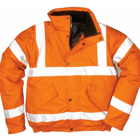 sUw - Hi-Vis Safety Workwear Rail Track Side Bomber Jacket RIS