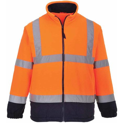 sUw - Hi-Vis Safety Workwear Rail Track Side Two Tone Fleece Jacket