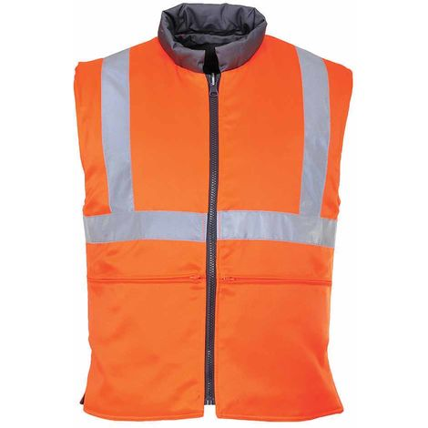 sUw - Hi-Vis Safety Workwear Track Side Reversible Bodywarmer RIS
