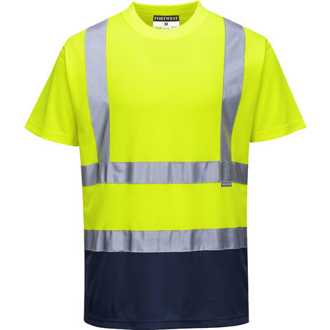 sUw - Hi-Vis Safety Workwear Two Tone T-Shirt