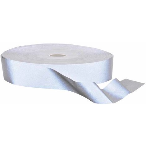 sUw - Hi-VisTex Flame Resist Reflective Tape 100m Silver Regular