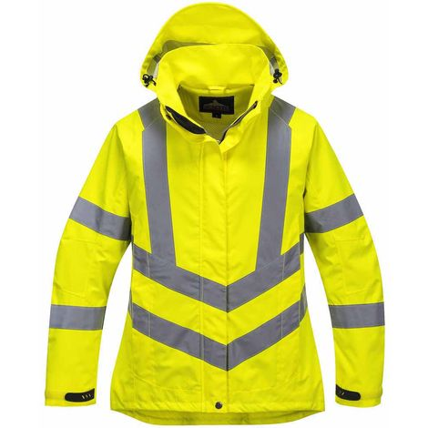 sUw - Ladies Hi-Vis Safety Workwear Breathable Jacket With Hood