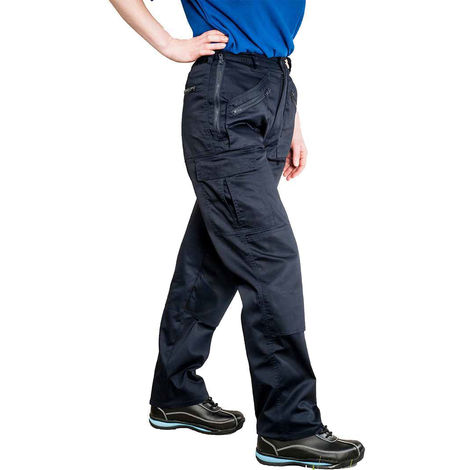 sUw - Ladies Outdoor Workwear Elasticated Action Cargo Trousers