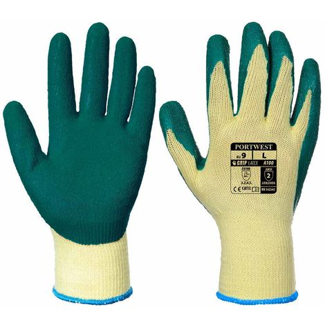 sUw - Latex Palm Dipped Gripper Gloves (3 Pair Pack)