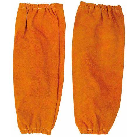 sUw - Leather Welding Sleeves Tan Regular