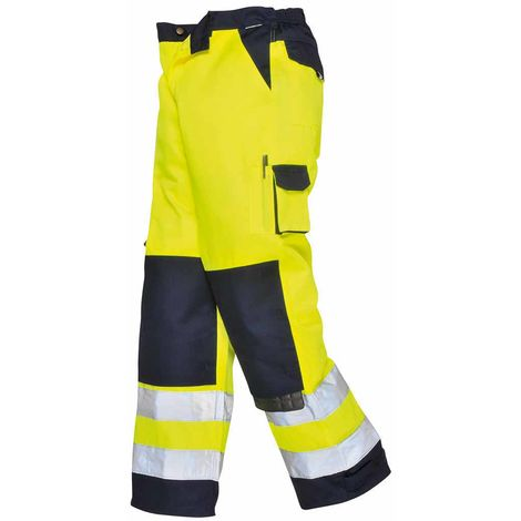 sUw - Lyon Texo Workwear Uniform Contrast Coloured Hi-Vis Safety Trousers