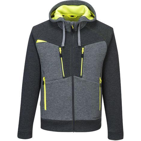 sUw Mens 4 Way Stretch Fabric DX4 Zipped Hoodie Jacket