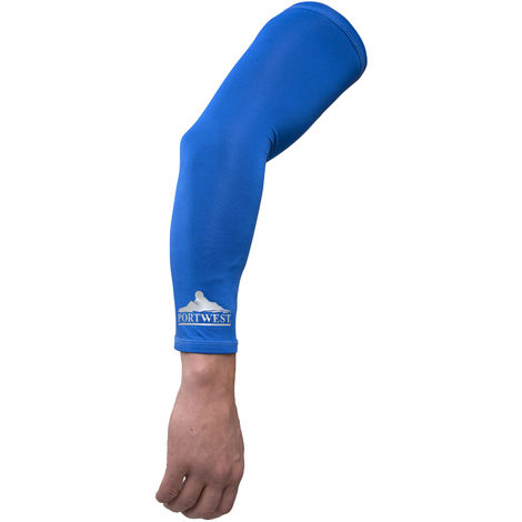 sUw - Mens Evaporative Cooling Sleeves- Blue - One Size