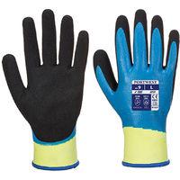 sUw - Mens Liquid & Cut Resistant Pro Gloves Blue/Black X-Large