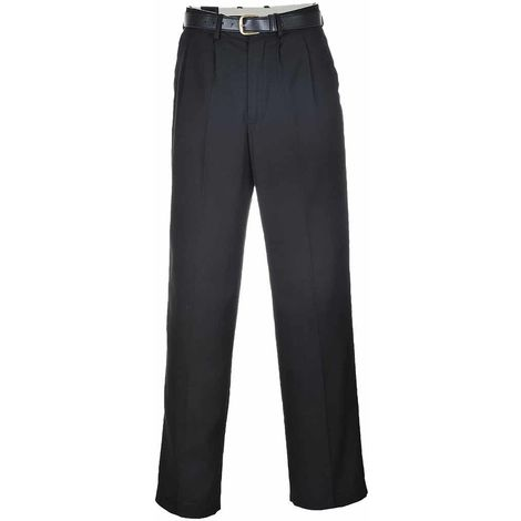 sUw - Mens London Modern Quality Poly-Viscose Trousers