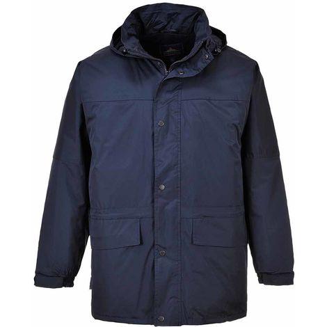 sUw - Oban Fleece Lined Padded Waterproof Jacket With Pack Away Hood