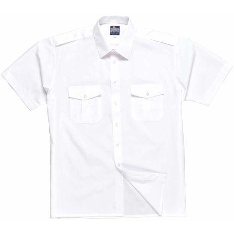 sUw - Pilot Style Uniform Workwear Short Sleeve Shirt With Epaulets
