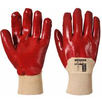 sUw - PVC Venti General Handling Glove (1 Pair Pack) Red Medium