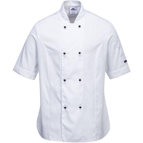 sUw - Rachel Ladies Short Sleeve Chefs Jacket