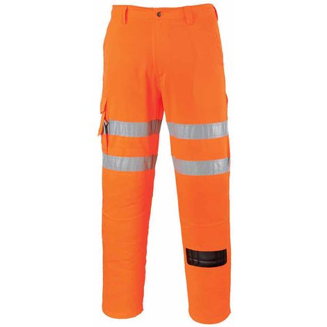 sUw - Rail Track Side Hi-Vis Safety Workwear Combat Trousers