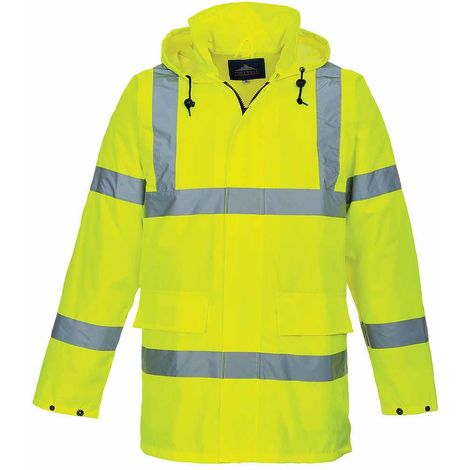 sUw - Reflective Hi-Vis 150D Mesh-Lined Zip Front Lite Traffic Jacket